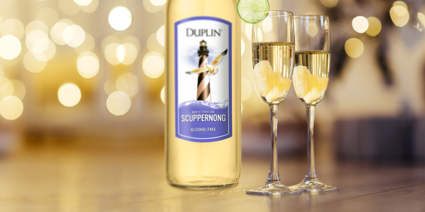 This Pineapple Scuppernong Spritzer made with Duplin alcohol-free wine is a refreshing sparkler.When you'r ready to add a little kick, simply replace Scuppernong alcohol-free wine with Duplin's regular Scuppernong wine.