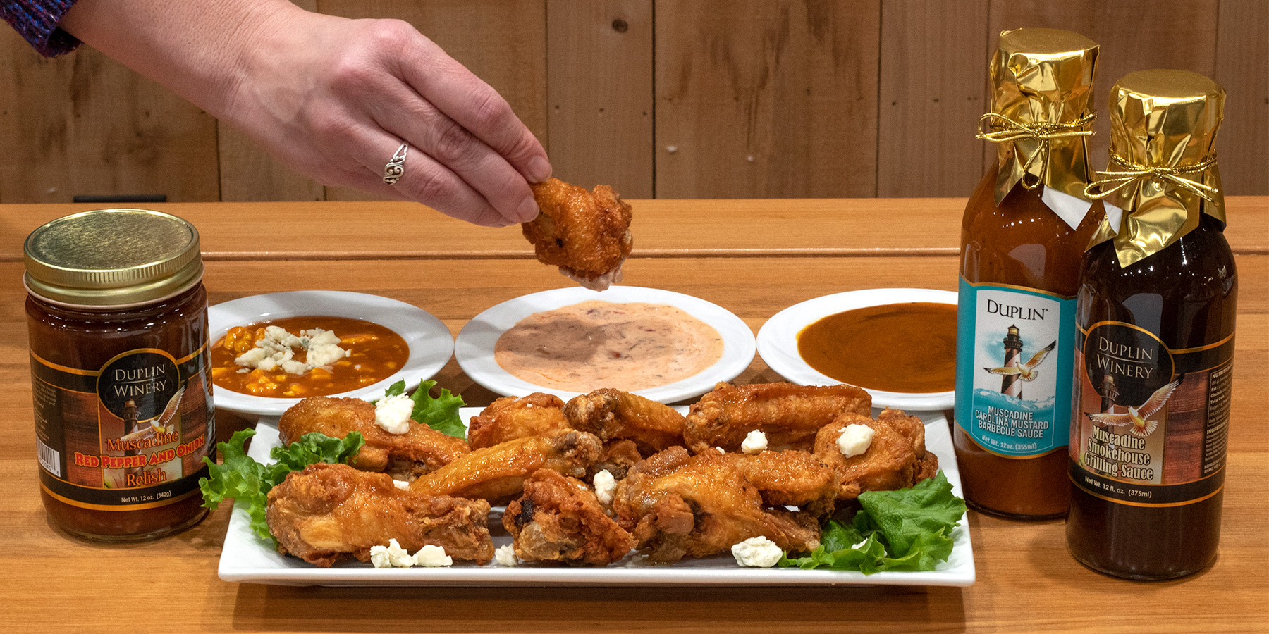All of these dipping sauces for chicken wings call for three ingredients or less.