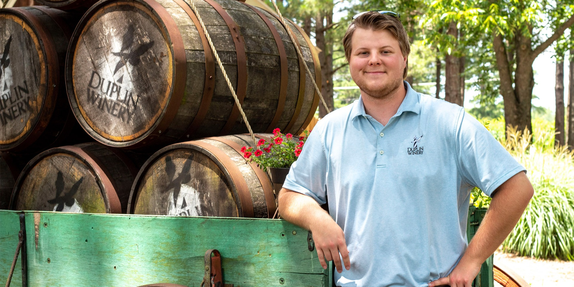 """Gray Fussell wasn't always sure that he wanted a career at his family's Duplin Winery. """"Little by little my perspective on Duplin began to change."""""""