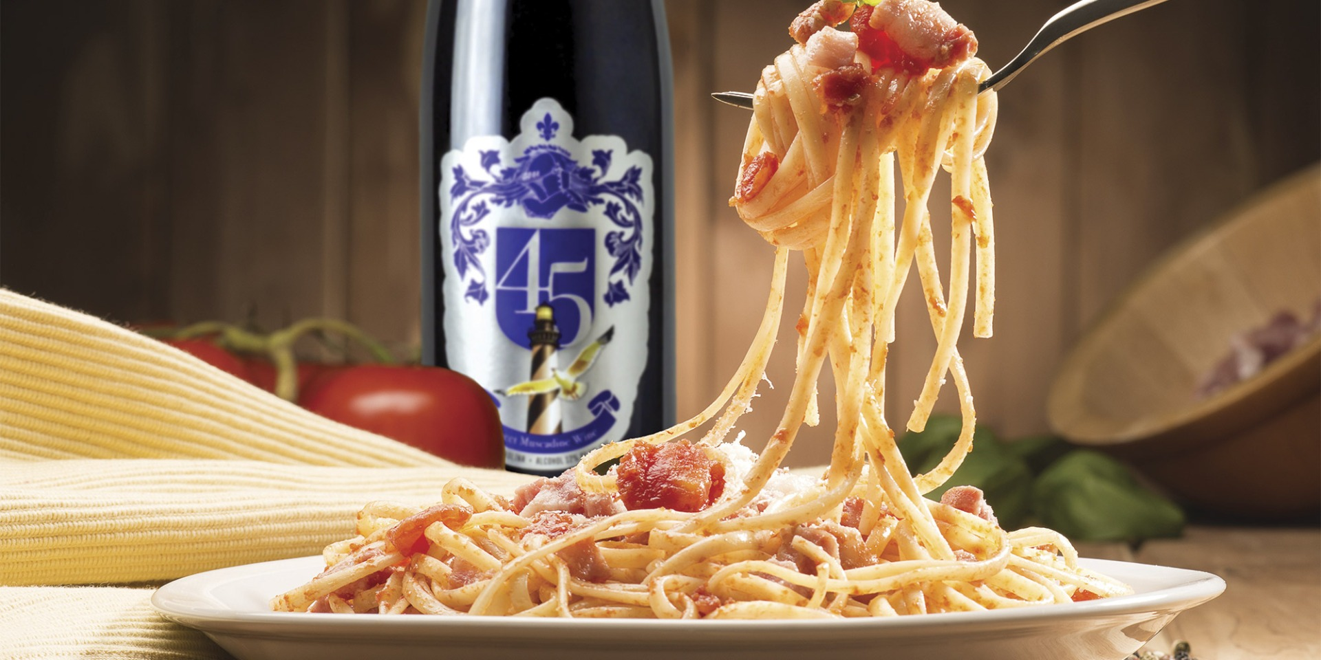 Spaghetti Night is a family tradition for the owners of Duplin Winery.