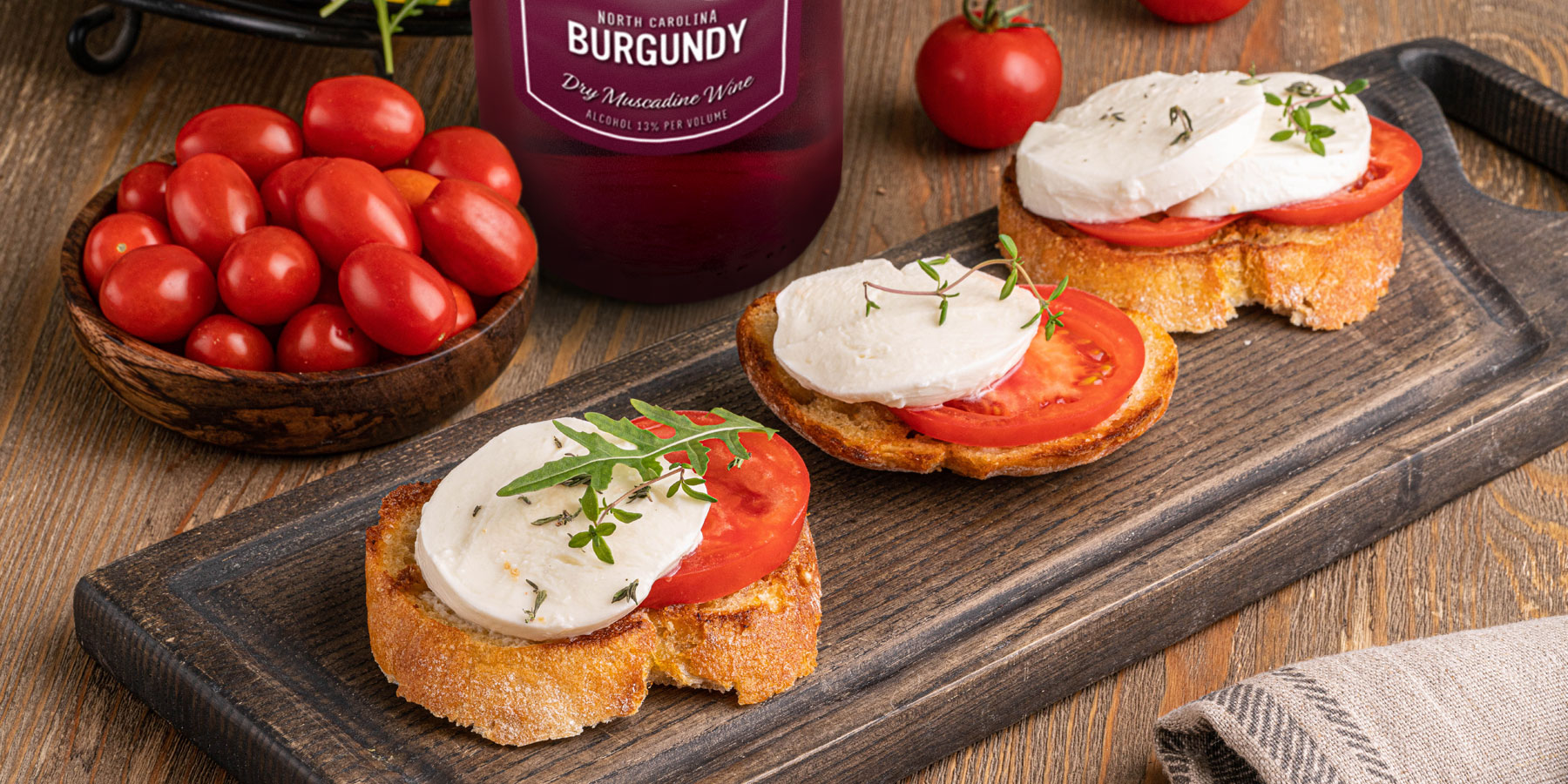 """Duplin """"Dine & Wine"""" host Frank uses an air fryer to make his grilled mozzarella tomato sandwich."""