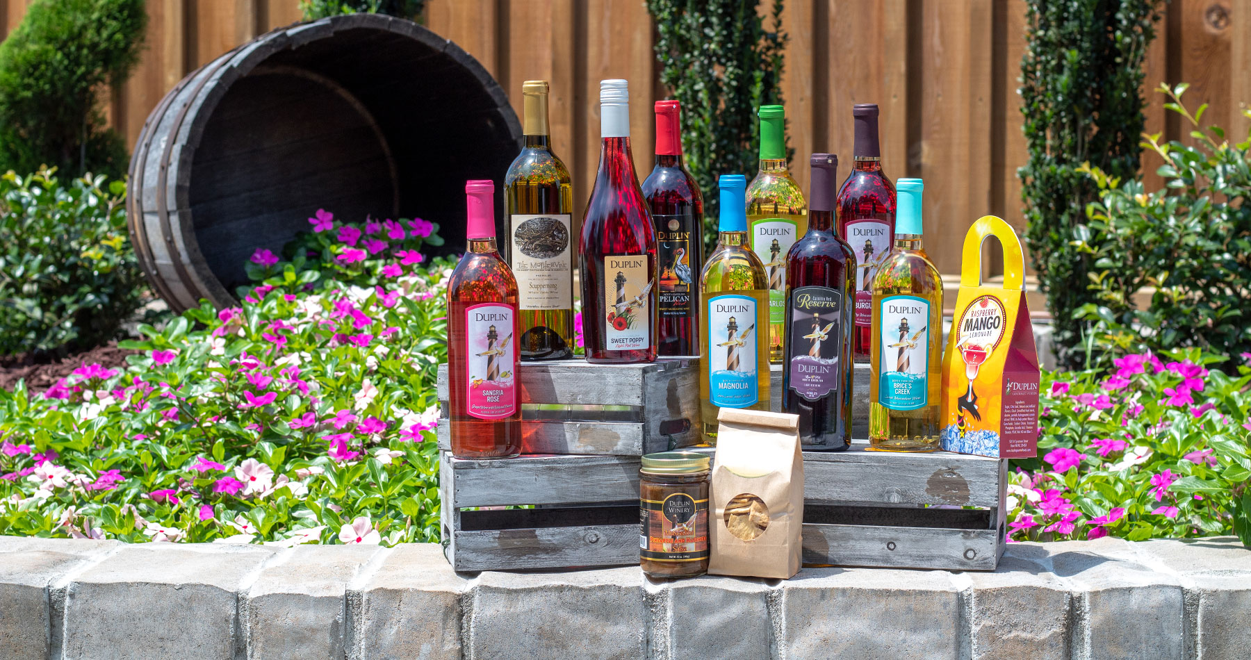 Duplin Winery At Home Wine Tasting Kits include wines we serve in our tasting rooms.