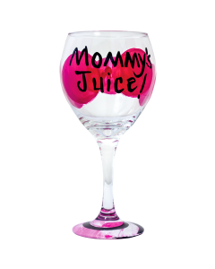 Mommy's Juice Wine Glass