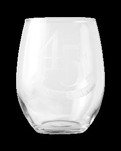 45 Anniversary Stemless Wine Glass