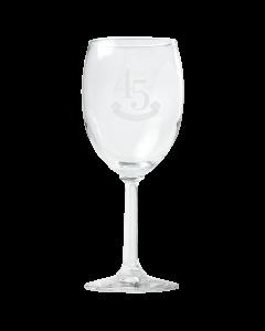 45 Anniversary Wine Glass