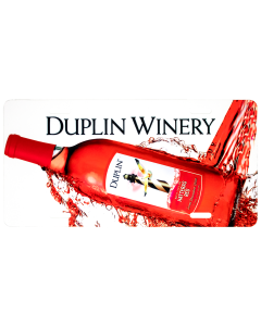 Duplin Hatteras Red License Plate