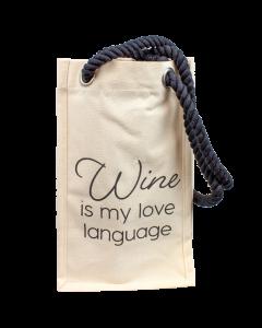 Wine is My Love Language Bag