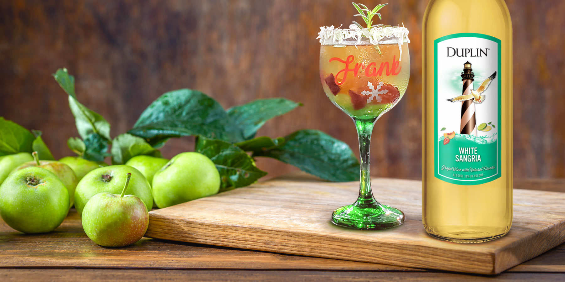 What fruit to put in white sangria? Try apples, plums and seedless grapes.
