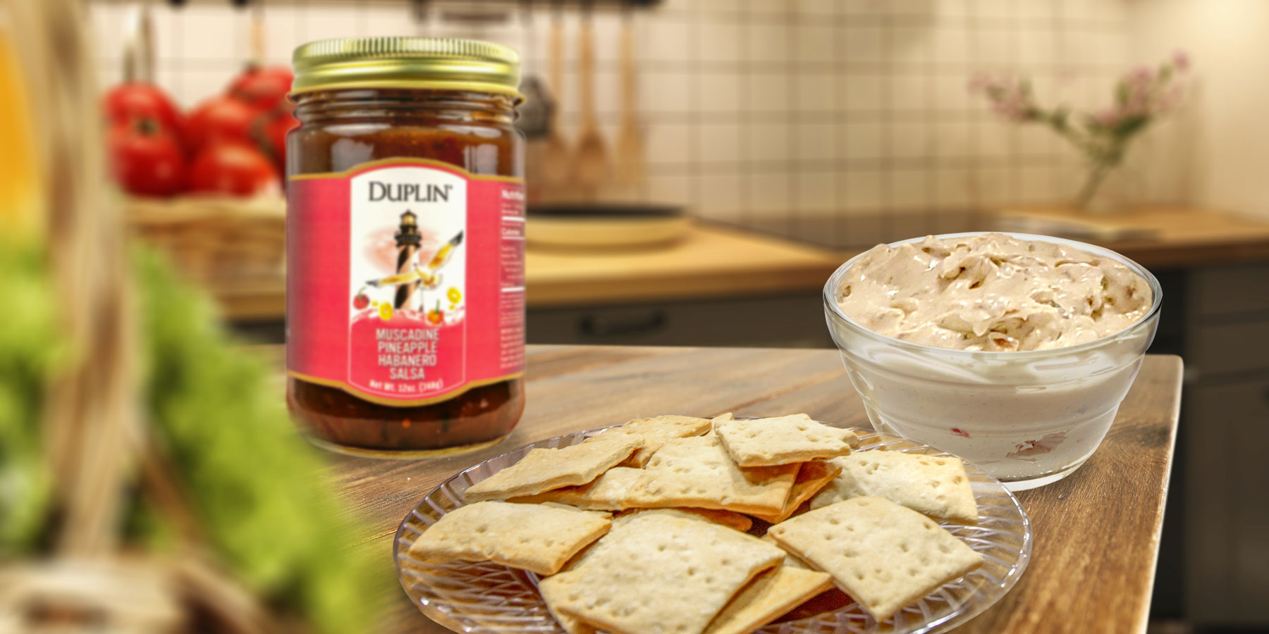 """Duplin """"Dine & Wine"""" host Frank adds bacon to our famous cheese dip."""