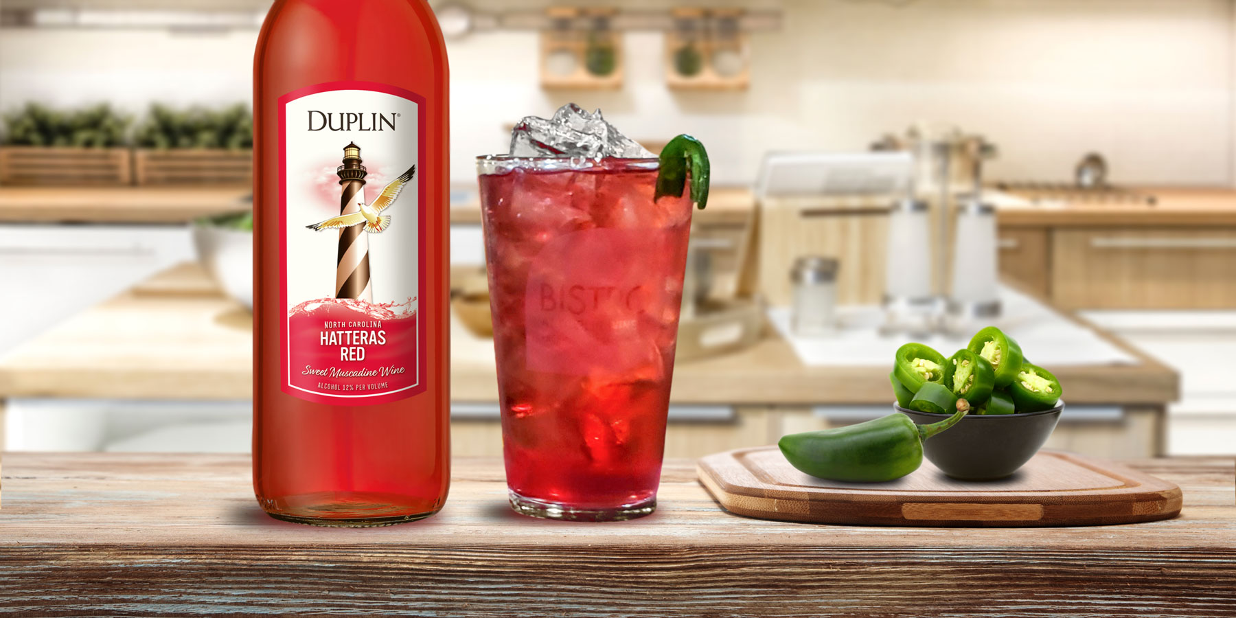 Infuse Hatteras Red with fresh jalapeños for a spicy sipper to serve on the rocks.