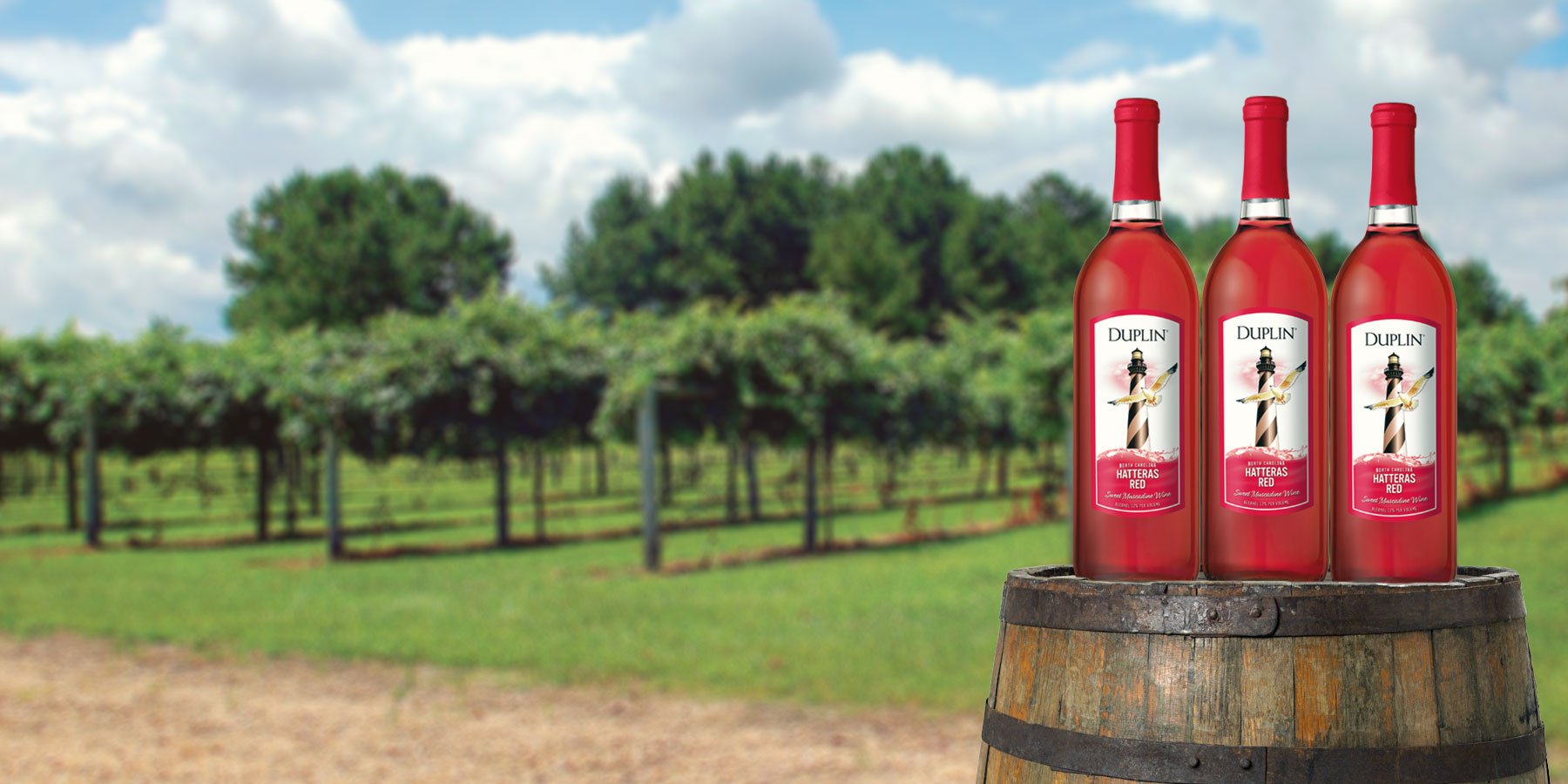 Hatteras Red, Duplin's most popular red wine, is sweet and fruity