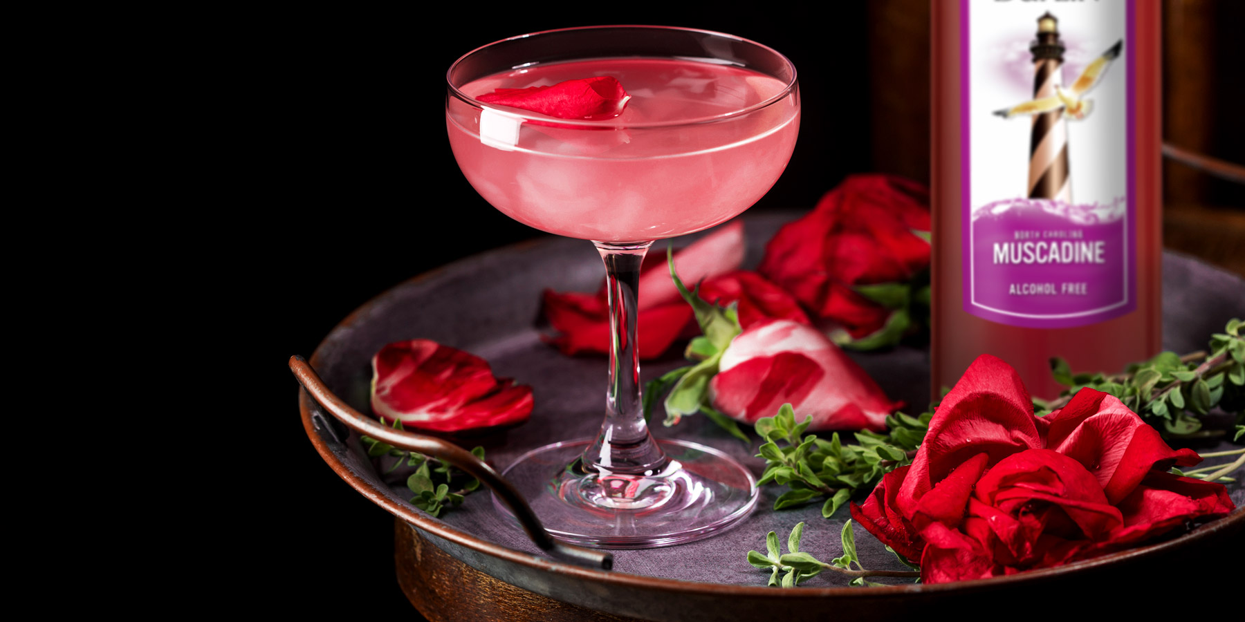 The Duplin Honey Muscadine Martini is the perfect compromise between a boozy drink and mocktail.