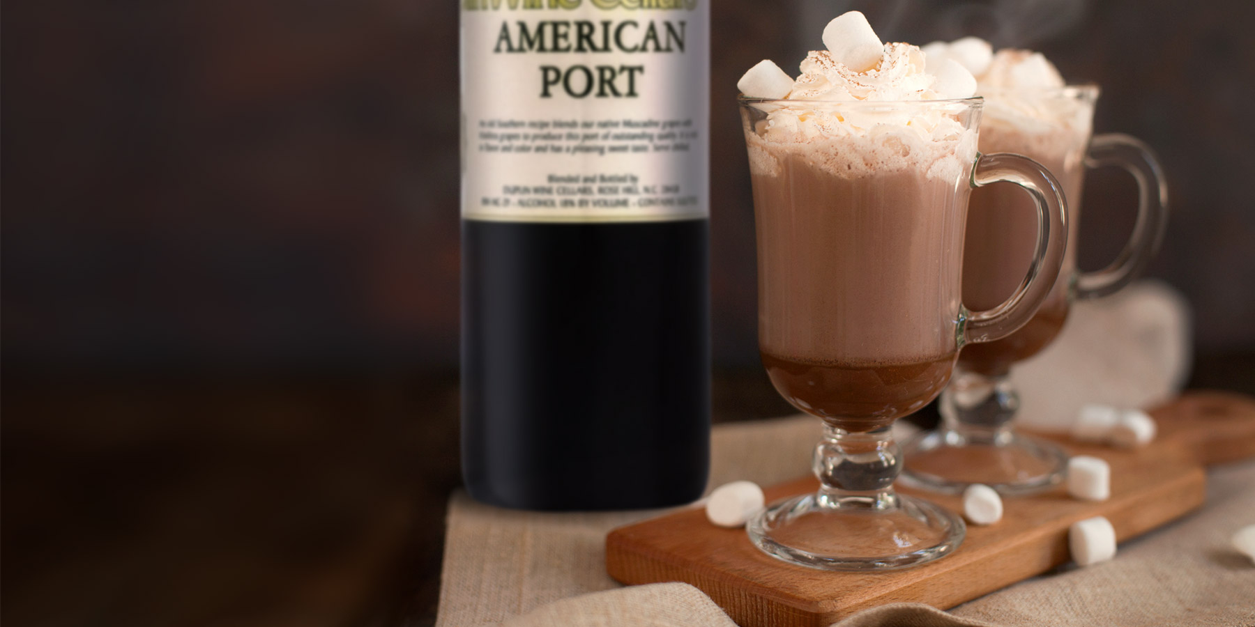 Chocolate with port is a classic wine pairing, so try hot chocolate with a shot of Duplin Port wine.
