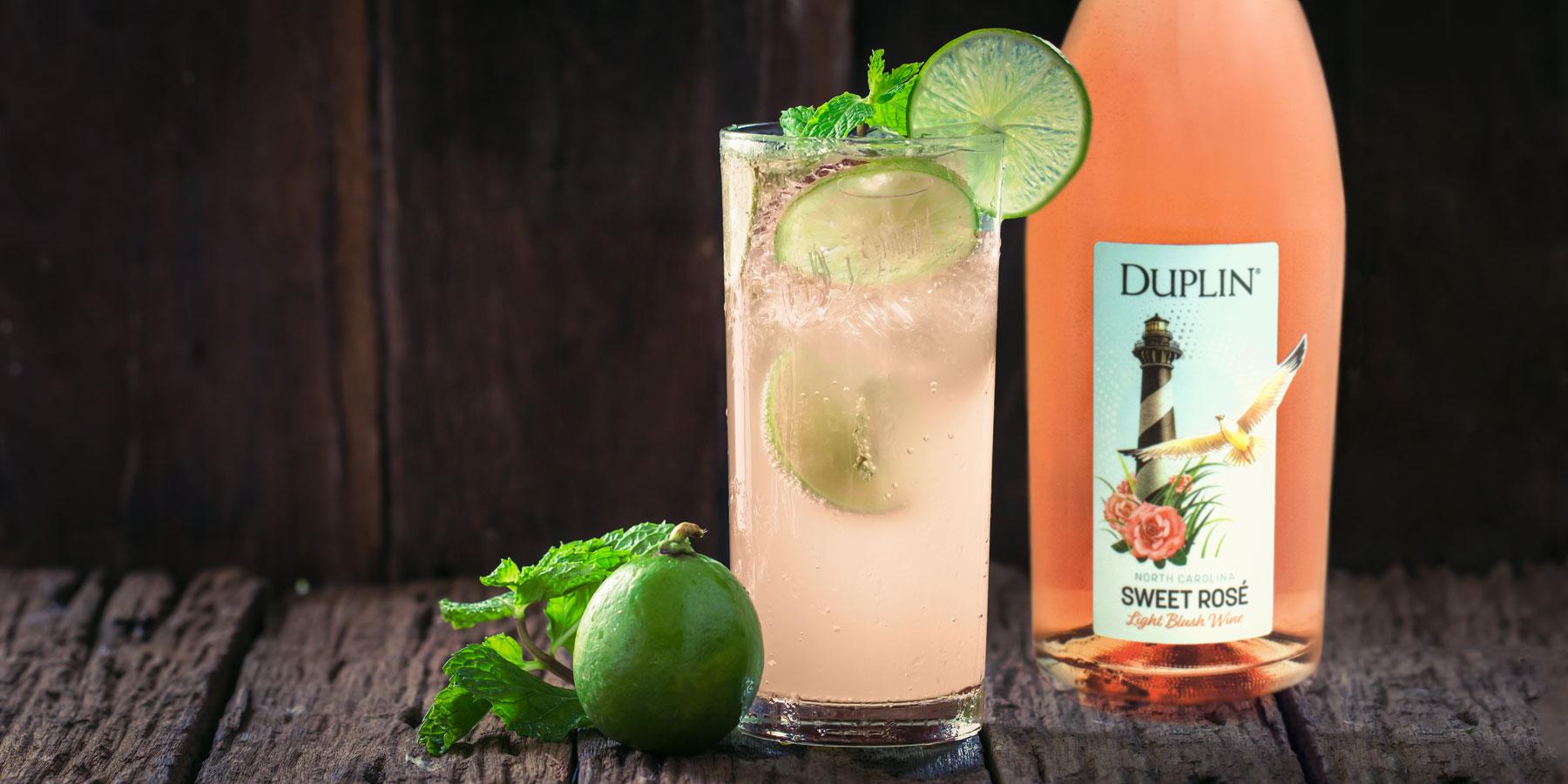 Duplin Sweet Rosé adds a fizzy, fruity twist.