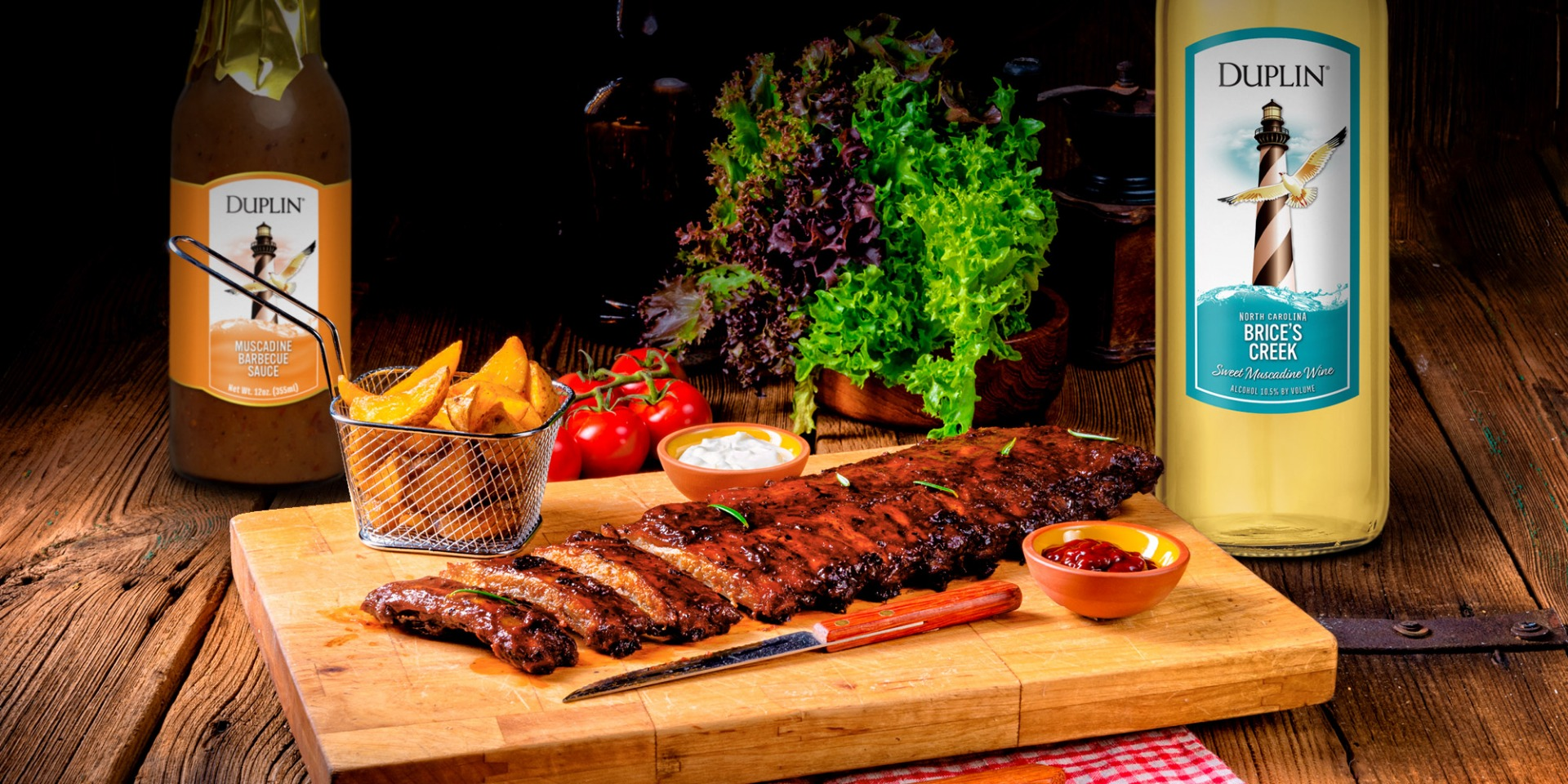 A touch of smoke and a little sweet wine make the best BBQ sauce for ribs.