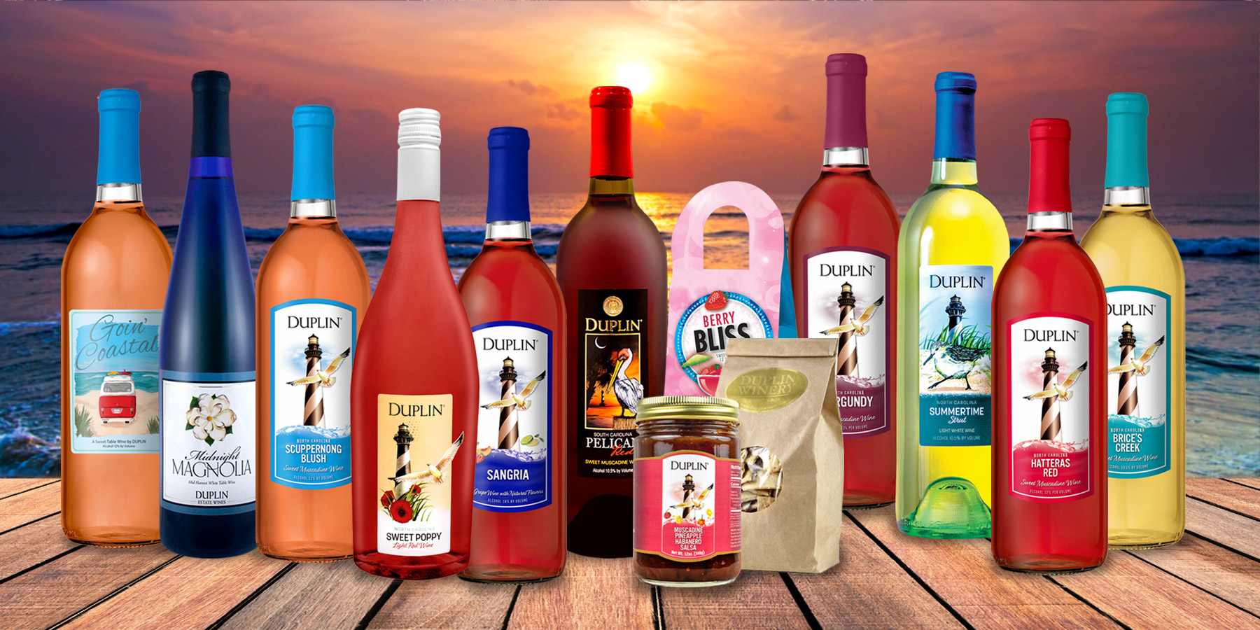 Duplin Winery's Seaside Wine Tasting Kit is summer vacation ready.