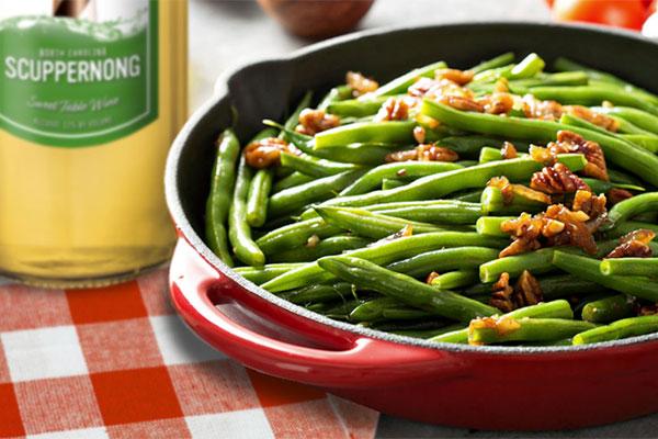 Zesty Scuppernong Green Beans